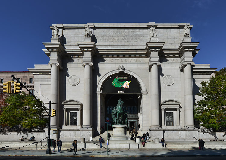 Entrance at the American Museum of Natural History